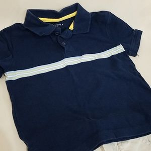 Sonoma Matching Sets - Blue Boys Polo shirt & Elastic waist Khakis 4T